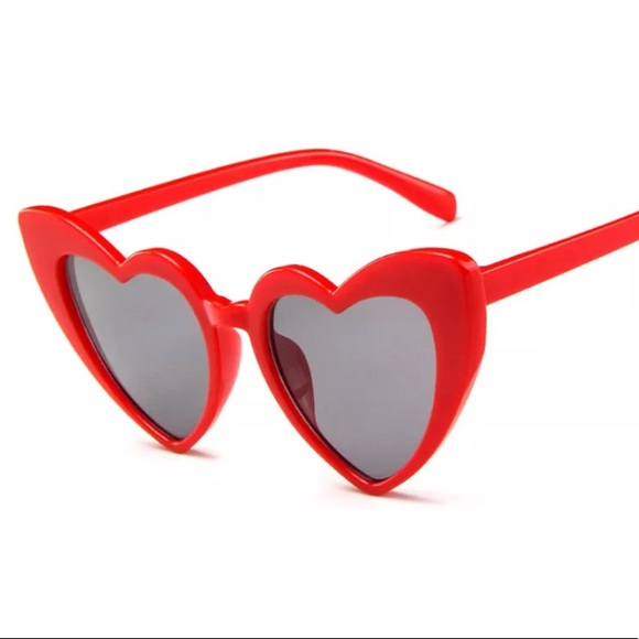 517e564476 Accessories - Heart shaped cat eye sunglasses fun sunnies red